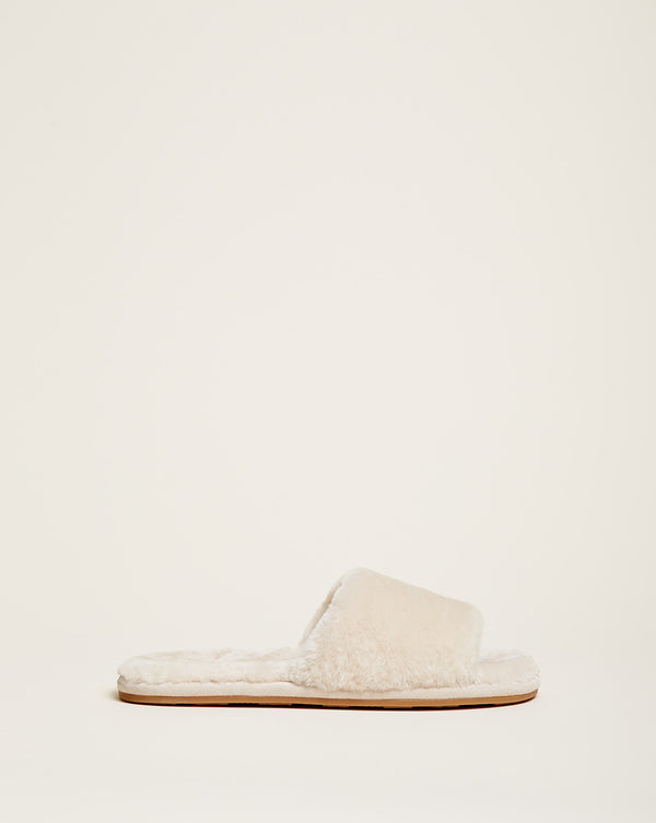 Gillian Slide Slipper - Cream