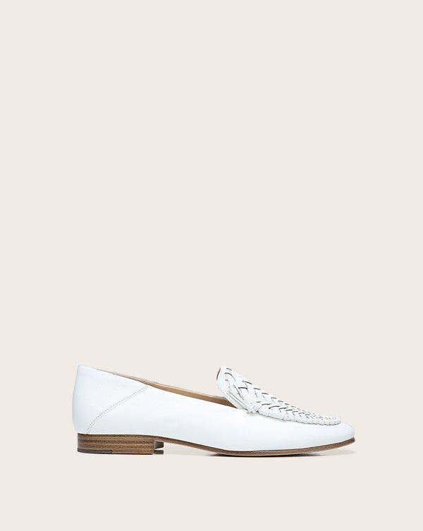 Anica Suede Loafer - White