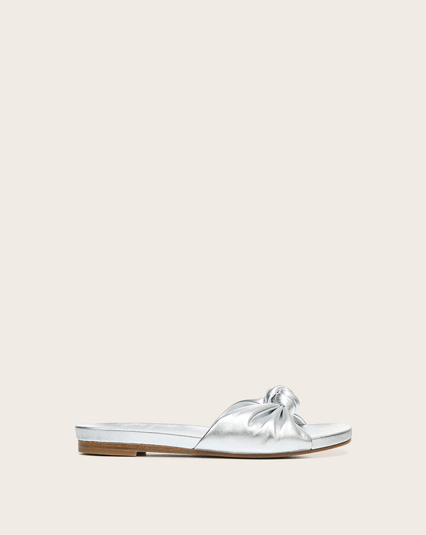 Etra Metallic Slide - Silver