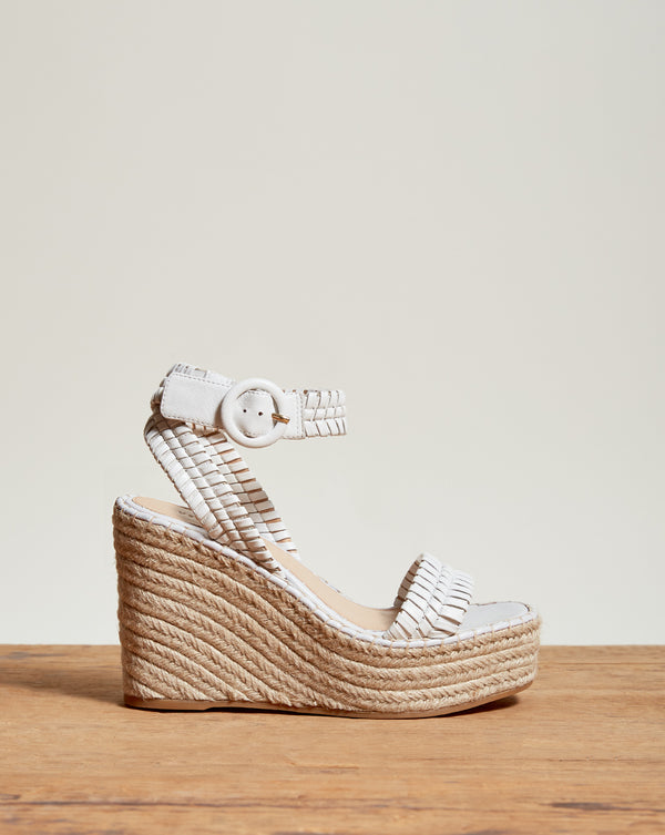 Rilla Wedge Espadrille - White