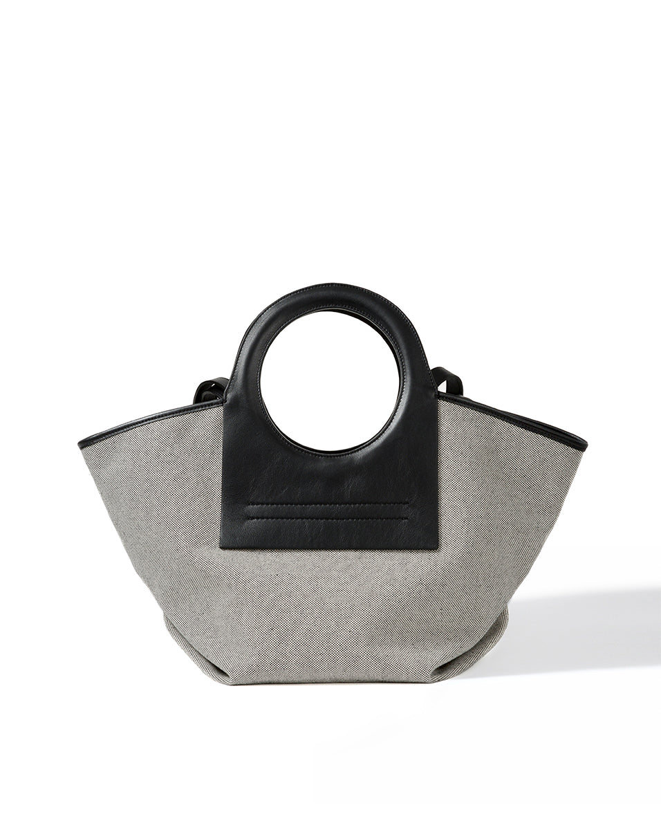 Cala Small Tote Bag - Black/natural