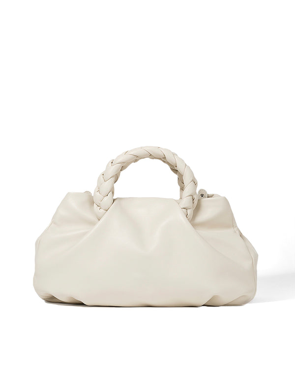 Bombon Large Leather Bag - Cream