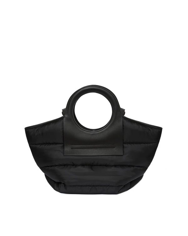 Cala Small Puffer Tote - Black