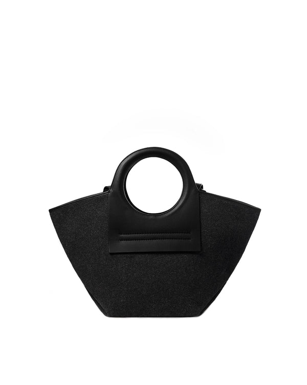 Cala Small Wool Tote - Charcoal