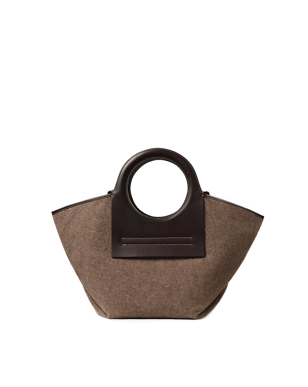 Cala Small Wool Tote - Brown Multi
