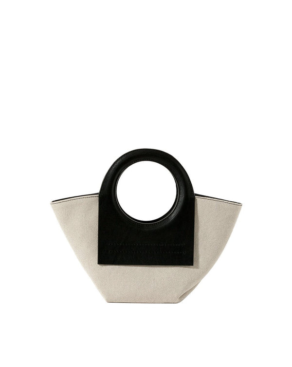 Cala Mini Tote - Black/Beige