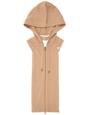 Cashmere Hoodie Dickey - Camel