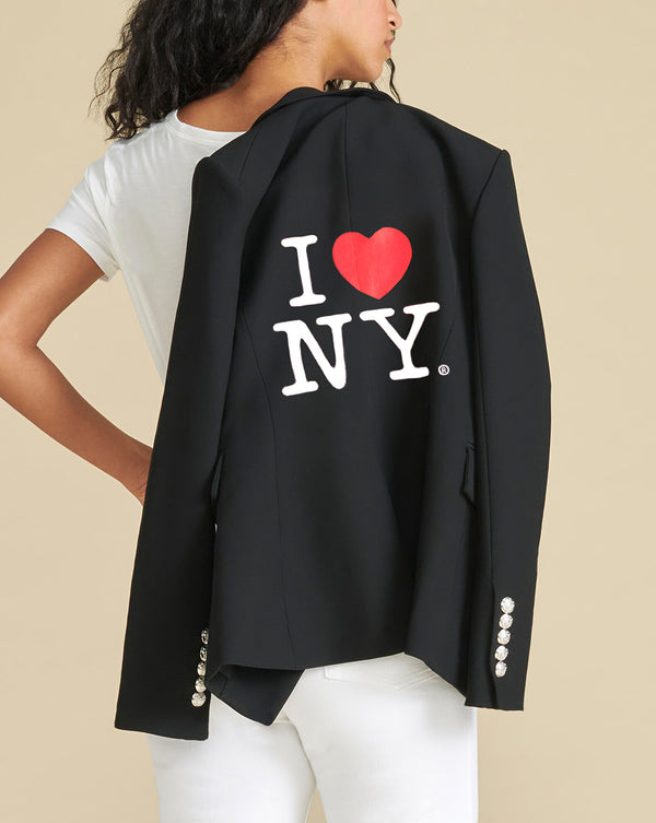 I Heart NY Dickey Jacket - Black
