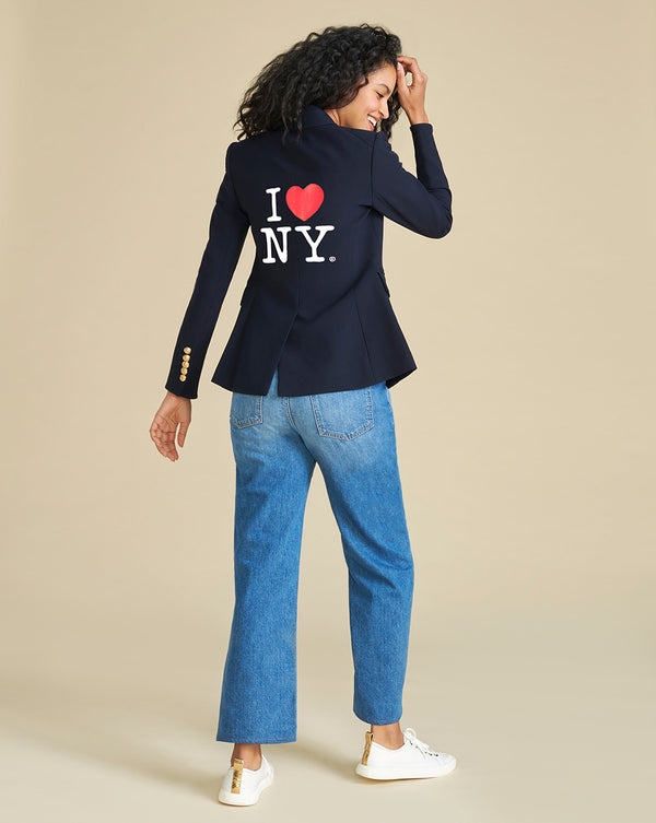 I Heart NY Dickey Jacket - Navy