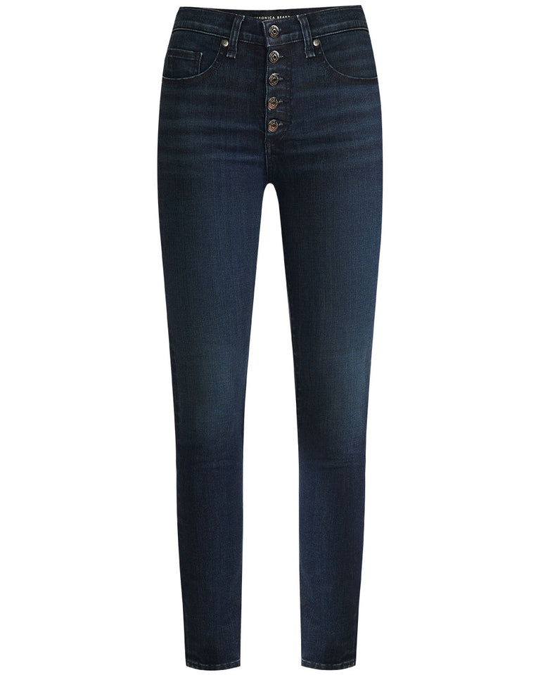 Kate High Rise W/ Buttons - Midnight