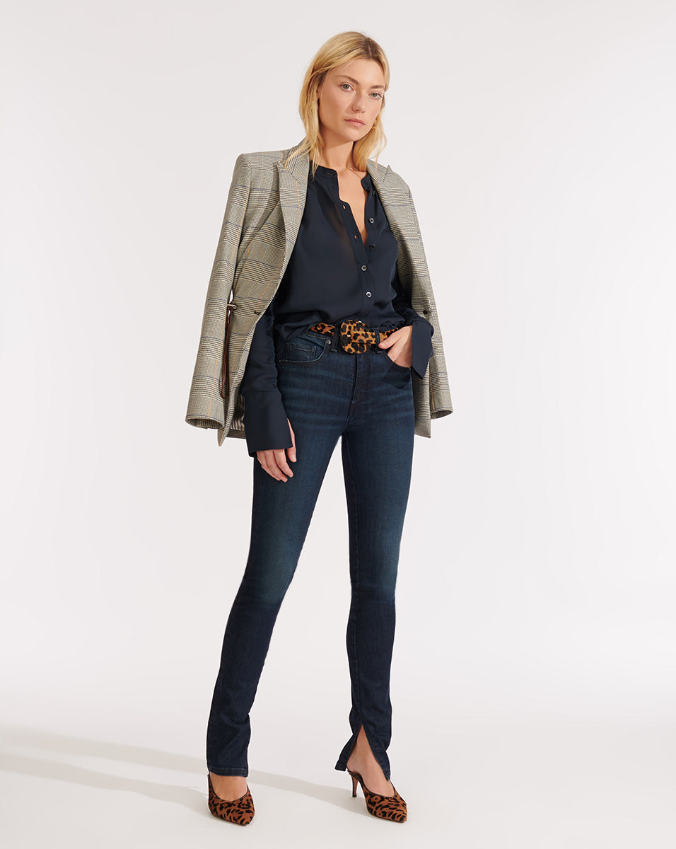 Kate High Rise Skinny W/ Slit - Midnight