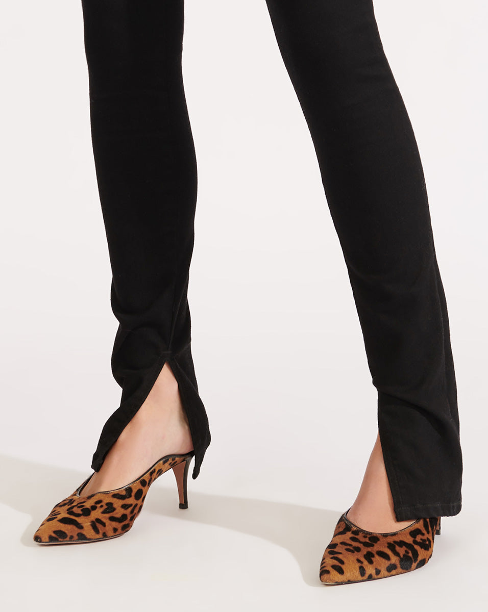 Kate High Rise Skinny with Slit - Raven