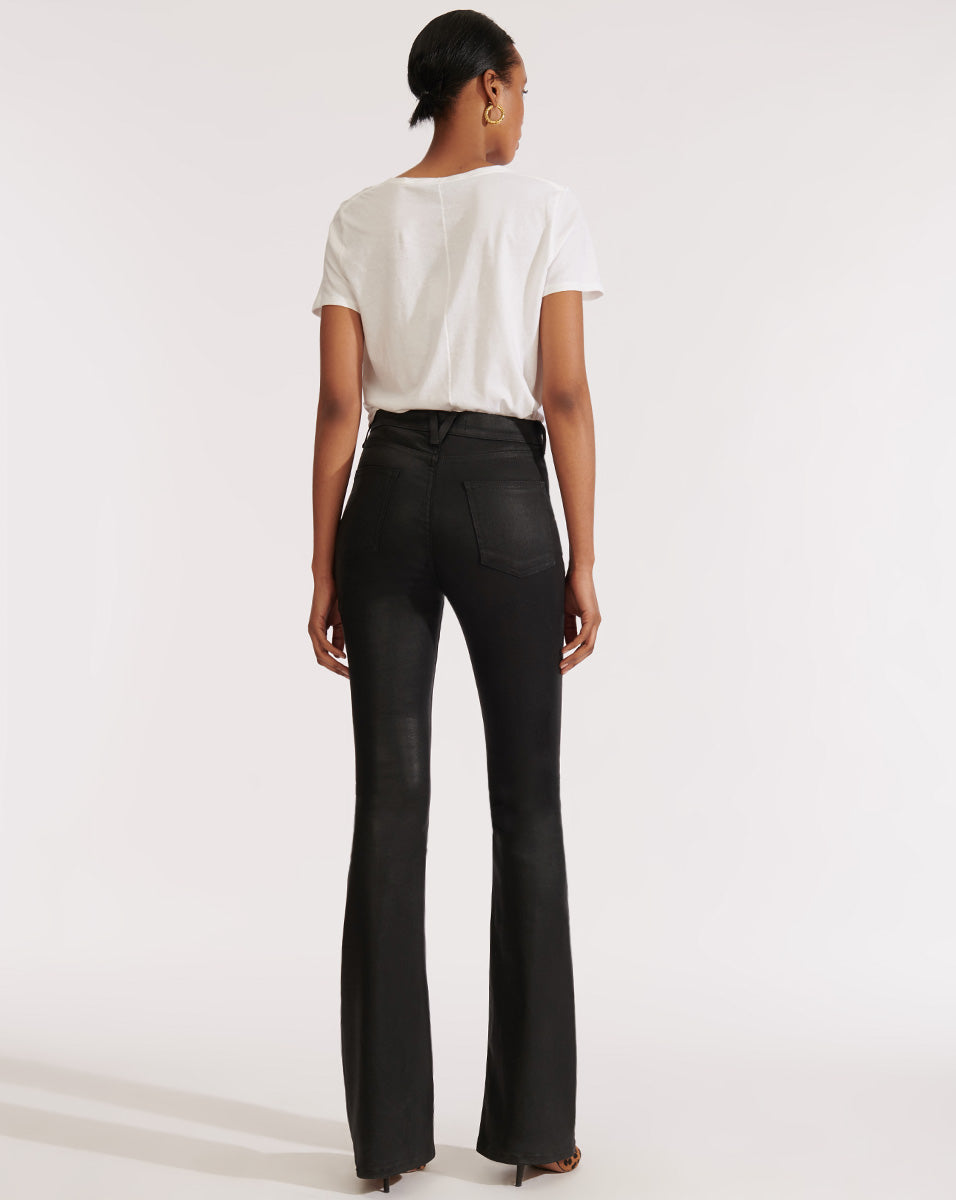Beverly High Rise Skinny Flare - Black