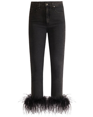 Kareena High Rise Skinny - Charcoal