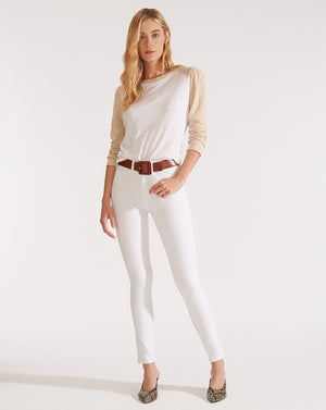 Kate High Rise Skinny - White