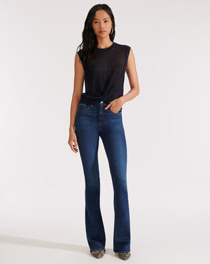 Beverly High Rise Skinny Flare - Mineral Blue