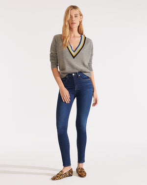 Kate High Rise Skinny - Mineral Blue
