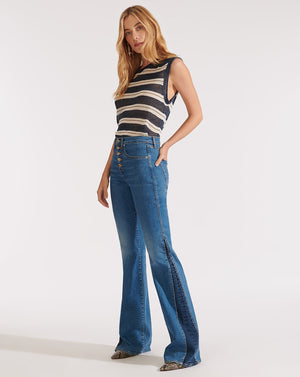 Kiley High Rise Wide Leg - Two Tone