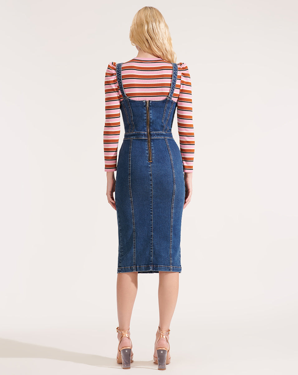Leone Denim Dress - Nantucket Valley