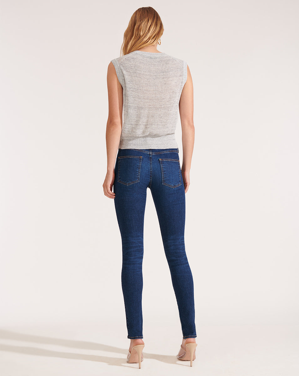 Brooke Mid-Rise Skinny Jeans - Bright Blue