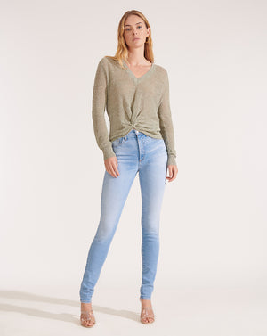 Kate High Rise Skinny - Pale Stone