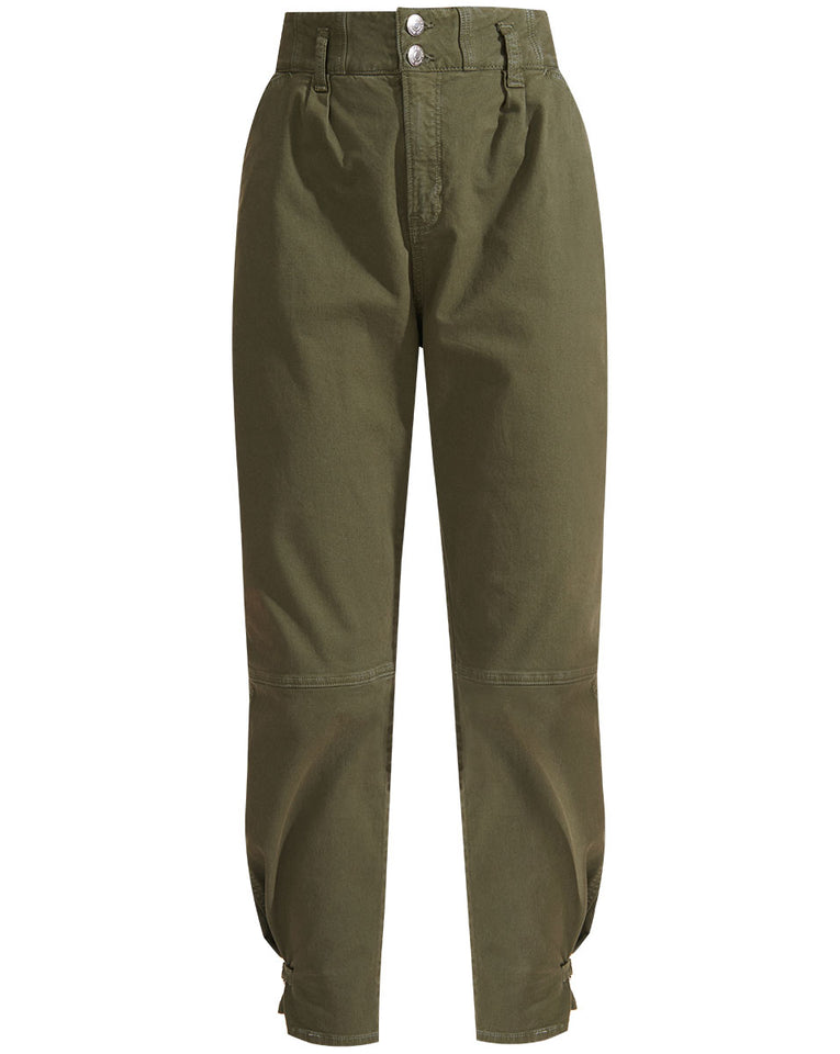 Monika Tapered Pant - Army Green