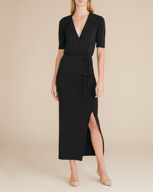 Mariposa Midi Dress - Black