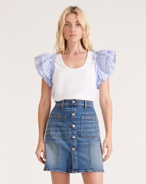 Deena Patch Pocket Skirt - Beacon