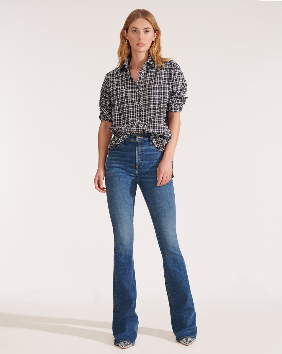 Beverly High-Rise Skinny Flare Jean - Nantucket Sea