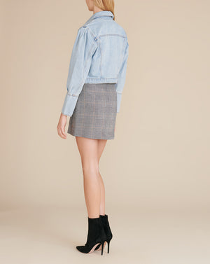 Denim Pouf-Sleeved Jacket - Aire