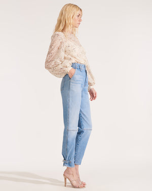 Monika Tapered Pant - Pale Stone
