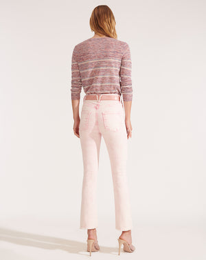 Carly High Rise Kick Flare - Pale Pink