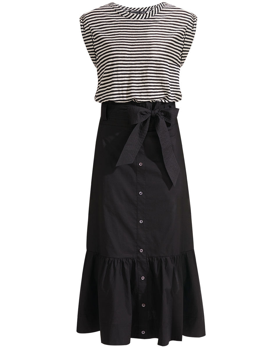 Capri Dress - Black White