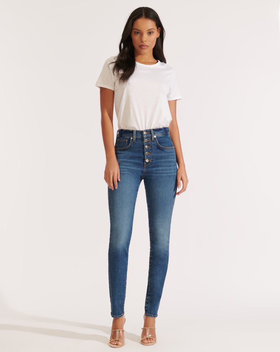 Debbie High Rise Skinny - Bright Stone