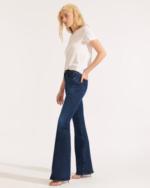 Beverly High-Rise Skinny Flare Jean - Bright Blue