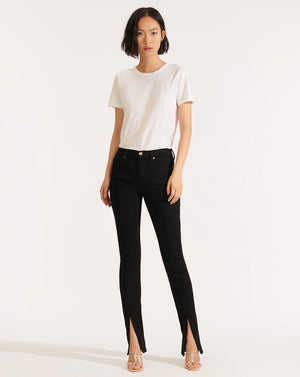 Kate High Rise Skinny (slit) - Raven