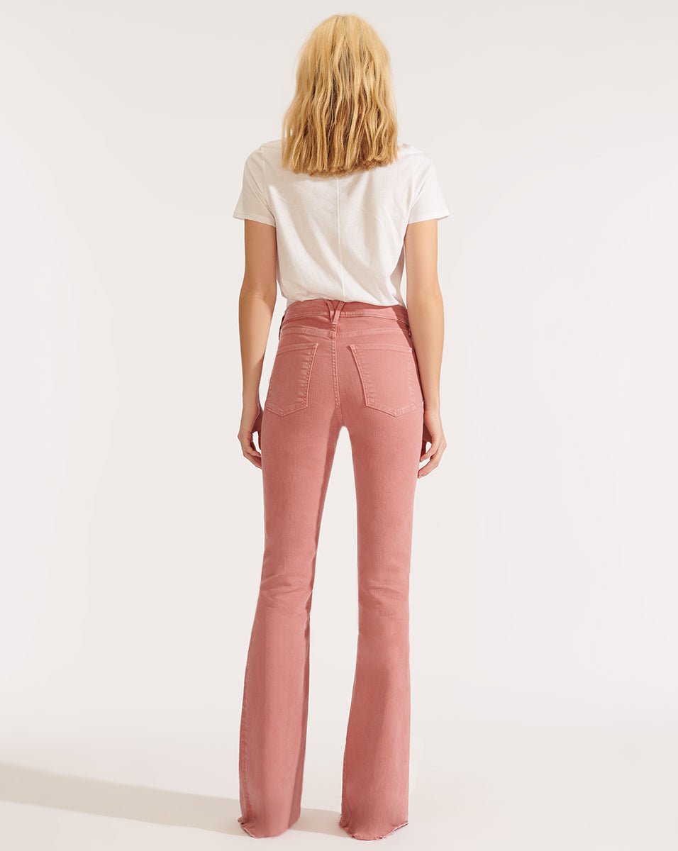 Beverly High Rise Skinny Flare - Pink