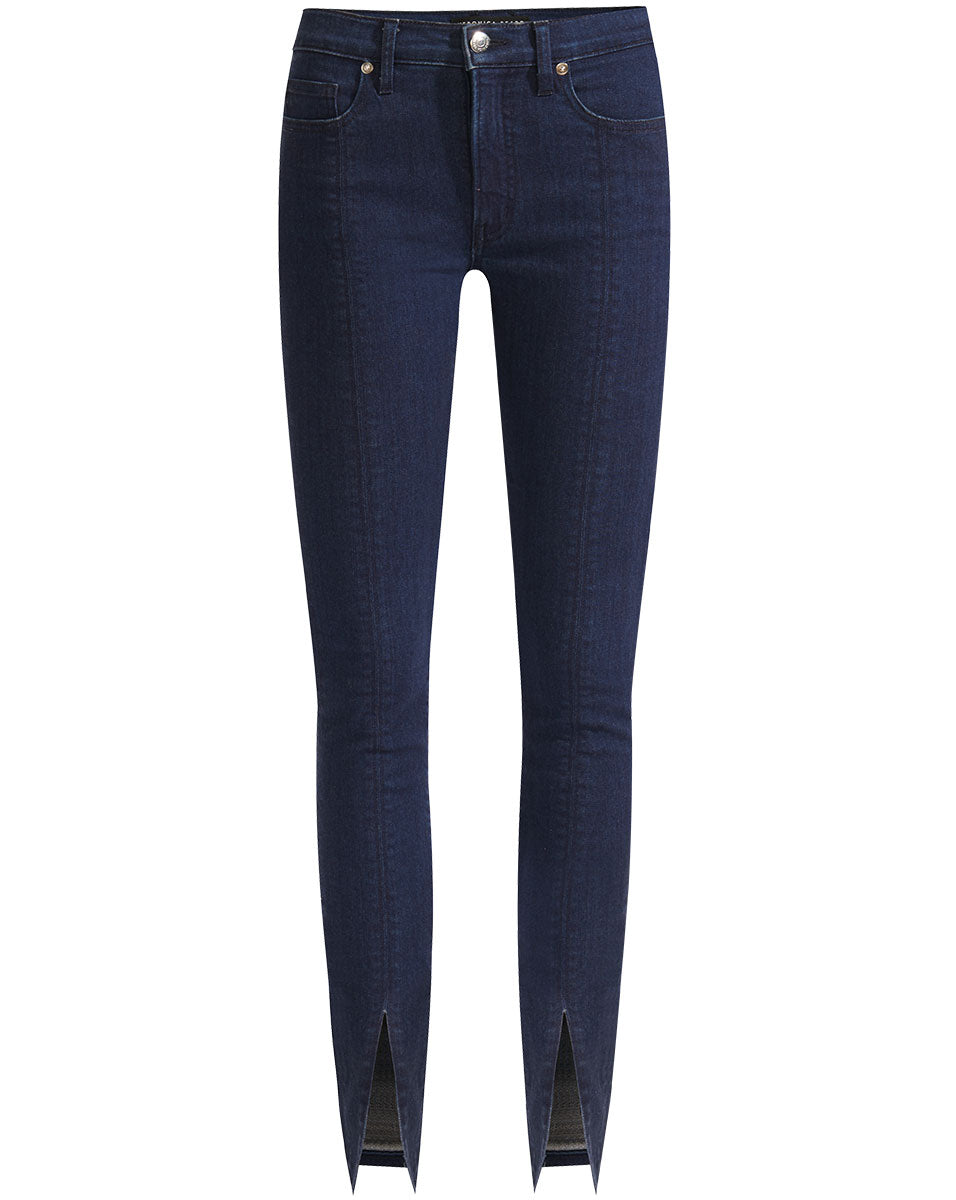 Kate High Rise Skinny Slit - Oxford Blue