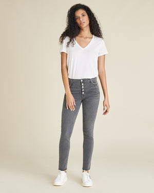 Debbie High-Rise Ankle-Crop Skinny Jean - Stonington