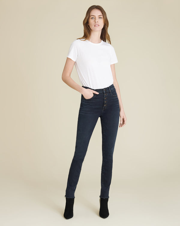Debbie High-Rise Ankle-Crop Skinny Jean - Dark Ink