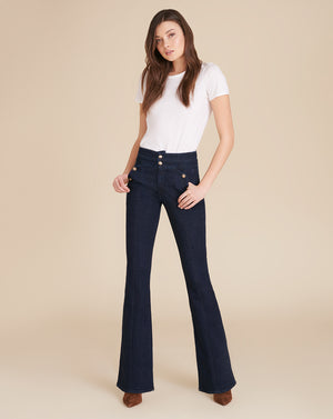 Beverly High-Rise Skinny-Flare Sailor Jean - Indigo