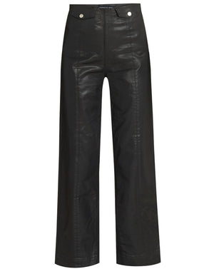 Brinley High-Rise Coated Jean - Black