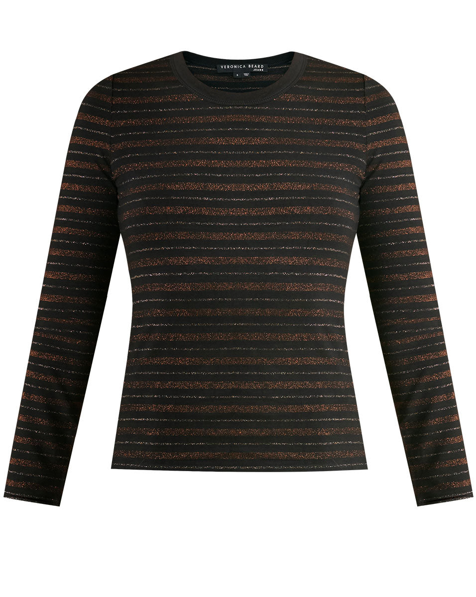Shanely Striped Tee - Bronze Multi