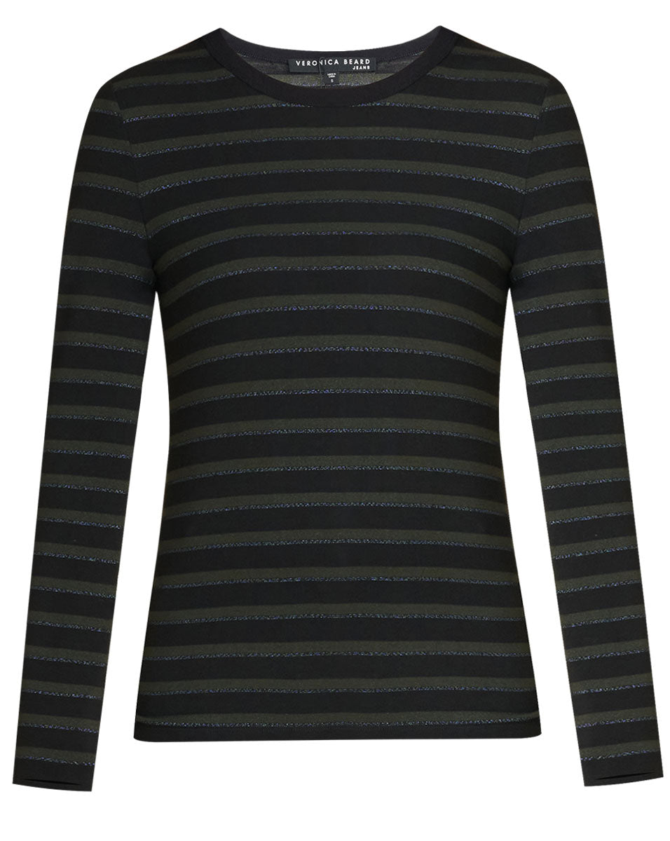 Shanely Striped Tee - Evergreen Multi