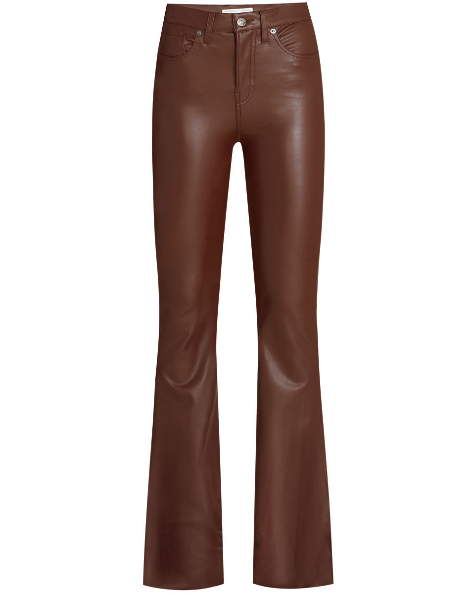 Beverly Vegan Leather Jean - Brown