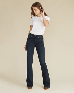 Beverly High Rise Skinny Flare - Dark Ink