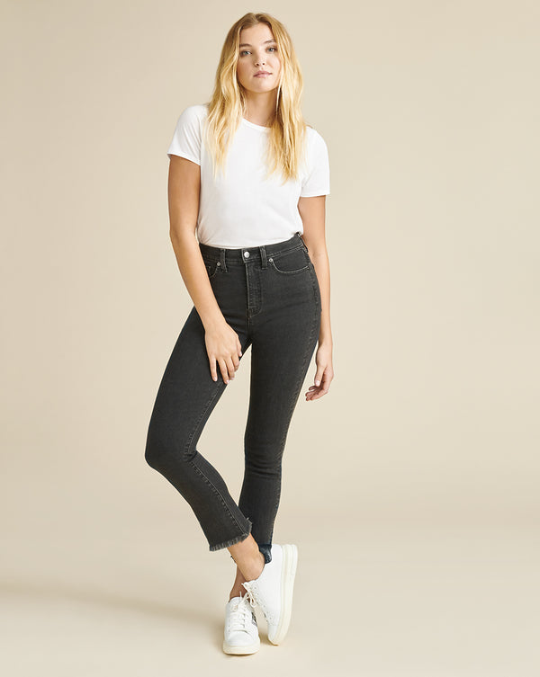 Carly High-Rise Kick Flare Jean - Salt & Pepper