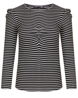 Beanie Striped Tee - Black/ivory