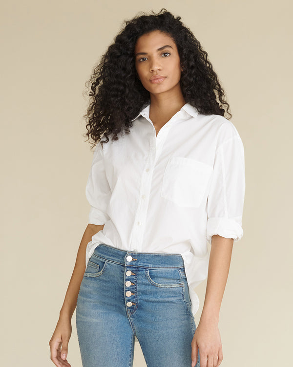 Keiko Button-Down Shirt - White