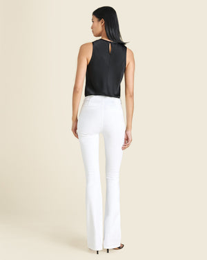 Beverly High-Rise Skinny Flare Jean - White